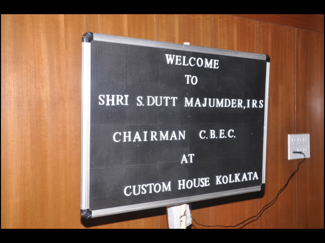 Visit of Chairman, CBEC, New Delhi